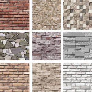 3 Boyutlu Taş Tuğla Desenli Duvar Kağıdı (5m²) - HER ÜRÜN İÇİN AYRI AYRI TUTKAL HEDİYELİ