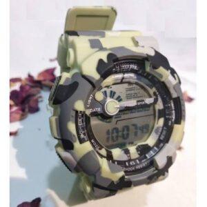 Samstar Marka Unisex Genç Kol Saati Dijital Askeri Açık Yeşil Renk (Hediye Paketi+Yedek Pil)