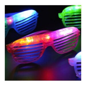 Led Işıklı Renkli Panjur Gözlük 12 Adet