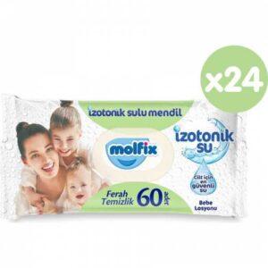 Molfix İzotonik Sulu Islak Mendil Ferah Temizlik 60 Adet x 24 Paket