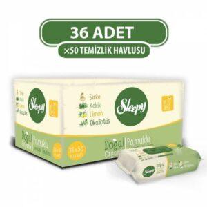 Sleepy Doğal Organik Pamuklu Temizlik Havlusu 36x50