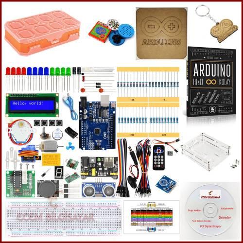 Arduino Başlangıç Seti Eğitim 45 Parça 152 Adet