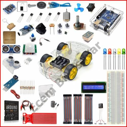 Arduino Başlangıç Seti Uno R3 4WD Araba 59 Parça 237 Adet
