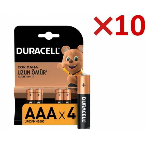 Duracell Alkalin AAA İnce Kalem Pil 40'lı Paket