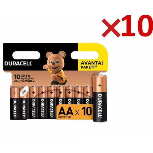 Duracell Alkalin Kalem Pil 100'lü AA