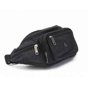 Kaliteli Bel Çantası Bel Omuz Çantası Kaliteli Moda Bel Çantası Siyah Çok Cepli Bel Çantası