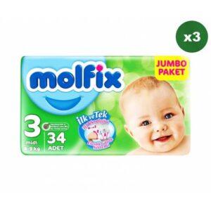 Molfix 3 Beden 34 Adet