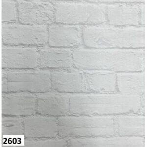 Dekonil Beyaz Tuğla Desenli Duvar Kağıdı 2603
