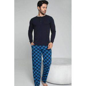 Erkek Pamuk Likralı Pijama Takımı Modal Kumaş Uyku Giyim Erkek Pijama Takımı