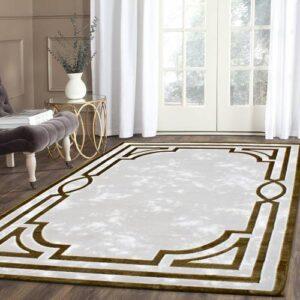 Payidar Halı Gold Plus 2648A Gold-Beyaz 150x230 cm El Oymalı Halı