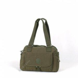 1122 Krinkıl Kumaş Kadın Çantası Smart Bags 29 Koyu Yeşil