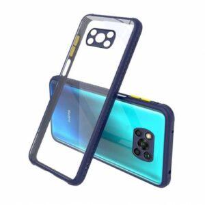 Xiaomi Poco X3 NFC Kılıf Kamera Lens Korumalı Arkası Şeffaf Silikon