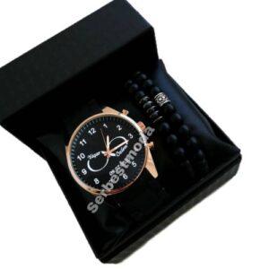 Erkek Saat Kombini Kişiye Özel İsimli Saat Sevgililer Günü Doğum Günü Hediyesi Sevgiliye Hediye
