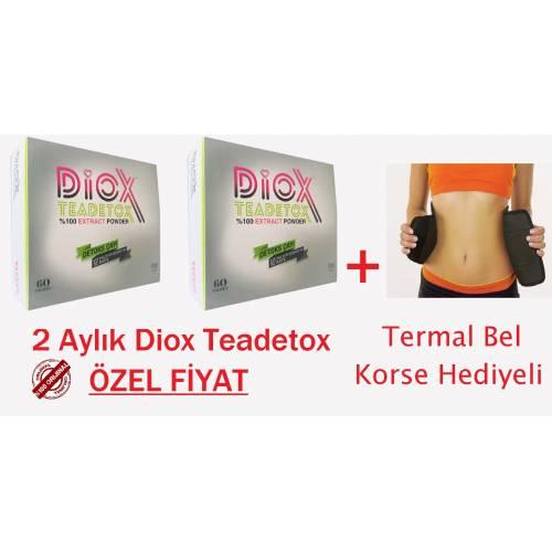 Diox Tea Detox-2 Kutu Detoks Form Çayı 2 Aylık-BEL KORSE HEDİYELİ - Ücretsiz Kargo- Orjinal Ürün