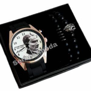 Erkek Kol Saatleri Sevgiliye Hediye Atatürk Temalı Erkek Saat Kombini Erkeğe Hediye