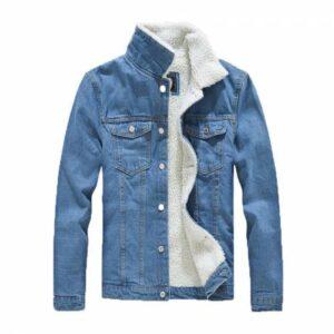 Blue Fashion İçi Kürklü Slim Fit Erkek Kot Ceket